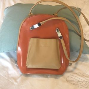 Burnt orange Beijo Shoulder bag